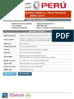 Datum, Junio 2014, Pulso Perú