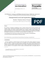 Entrepreneurial Social and Organisation Inklings