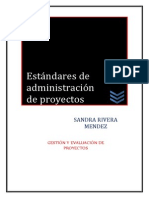 Estandares de Administracion de Proyectos