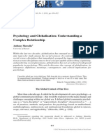 Psychology and Globalization. Understanding a Complex Relationship.