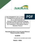 Produccion y Comercializacion de Yogurt - Cerro de Pasco