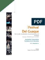 Informe Fest Guaque 2013