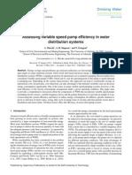 Assessing Variable Speed Pump Efficiency in WDSs