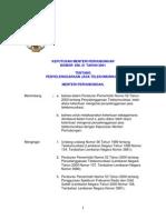 Kepmen 21-2001 Penyelenggara Jasa Telekomunikasi