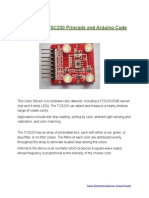 Color Sensor Working Principle and Arduino Code