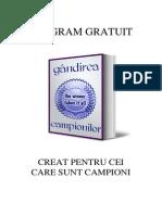 Silviu Vasile - Programul Gandirea Campionilor I