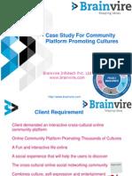 Case Study For Community Platform Promoting Cultures