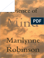 Absence of Mind_ the Dispelling of Inwardness From the Modern Myth of the Self - Marilynne Robinson