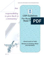 CSR GuideLines Water