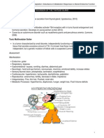 Competency Appraisal 1 Disturbance in Metabolism Endocrine