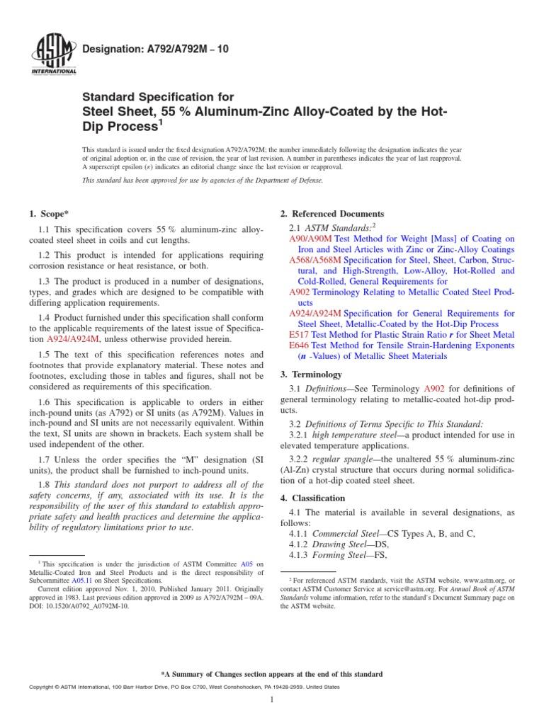 ASTM A792 PDF