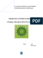 Migratia Internationala- Proiect (1)
