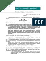 CLT - Consolidacao Das Leis Trabalhistas