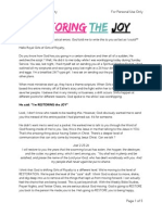 Restoring the Joy PDF