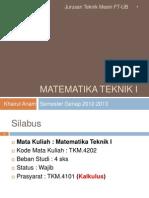 Matek 1 - Introduction