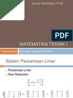 Matek 1 - Aljabar Linier