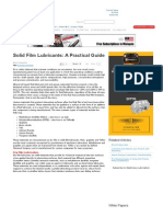 Solid Film Lubricants_ a Practical Guide