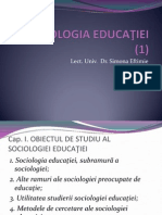 Curs Sociologia Educatiei