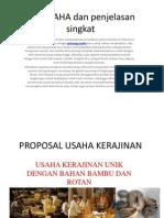 Proposal Usaha Kerajinan