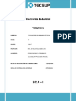 INFORME N°1 DE ELECTRONICA INDUSTRIAL