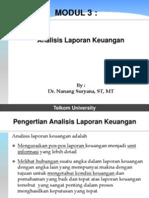 Modul 3 Analisis Laporan Keuangan Tu 2014 1 Pdf