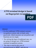 2003atm Terminal Design is Based on Fingerfrint Recognition