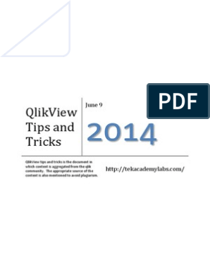 Qlikview Tips Tricks | Database Index | Databases