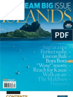 "Islands Mag ""Dream Big"" Cover Contents"