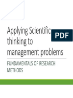 Applying Scientific Thinking to Management Problems
