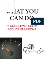 What You Can Do to Conserve Fuel and Reduce Emissions