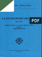 Jaroslav Cerny-Sarah Israelit G,Late Egyptian Grammar