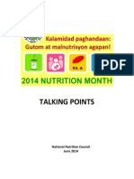 Nutrition Month 2014  Talking Points