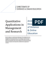 Quantitative Applications in Management Research E-book