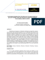 Extended Information Technology Enabled Service Quality Model for Life Insurance Services and Its Managerial Implications