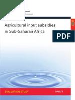 Agricultural Input Subsidies in Sub-Saharan Africa