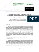 A Secure Payment Scheme in Multihop Wireless Network by Trusted Node Identification Method