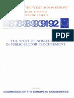 Informe Cecchini. sobre «Los costes de la no-Europa»