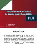 Gestión de La Prevención - Ohsas 18.001