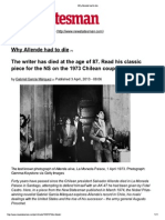Why Allende Had to Die