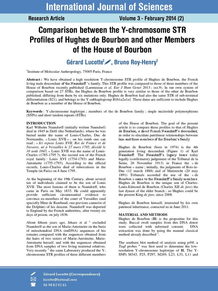 Naundorff Bourbon | Single Nucleotide Polymorphism | Haplotype