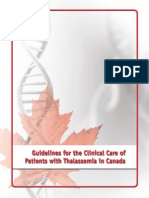 Guidelines for the Clinical Care of Patients with Thalassemia in Canada