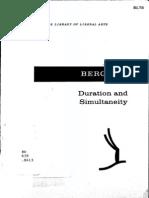 Duration and Simultaneity_Henri Bergson