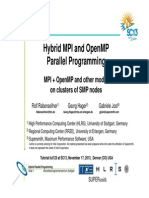 Hybrid MPI and OpenMP Parallel Programming