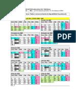 nuevo calendario de seminario