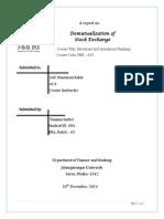 De-Mutualization of Stock Exchange