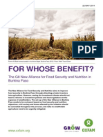 For Whose Benefit? The G8 New Alliance for Food Security and Nutrition in Burkina Faso