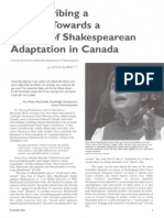 A Theory of Shakespeare Canada