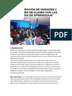 Elaboracion Unidades y Sesiones Con RUTAS Del APRENDIZAJE