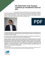 GSF Fotovoltaico, Giuseppe Tammaro Nuova Gestione Per Investimenti Cinesi