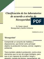 CLASE 10 Clasificación de Los Laboratorios Nivel de Bioseguridad